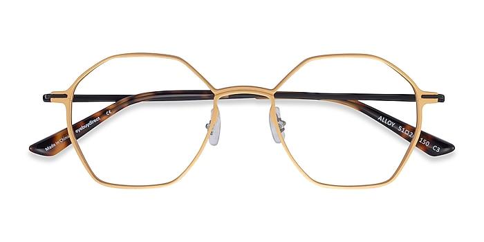 Gold & Black Alloy -  Aluminium Alloy Eyeglasses