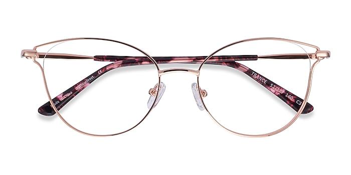Rose Gold Trance -  Metal Eyeglasses