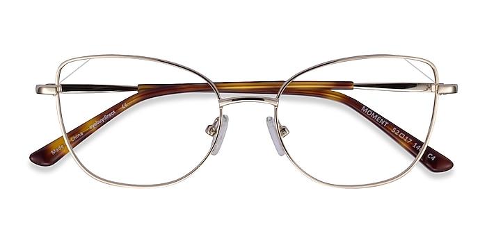 Light Gold Moment -  Vintage Metal Eyeglasses