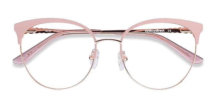 Pink Rose Gold Gem -  Colorful Metal Eyeglasses