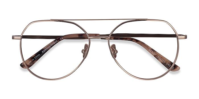 Rose Gold Benny -  Metal Eyeglasses