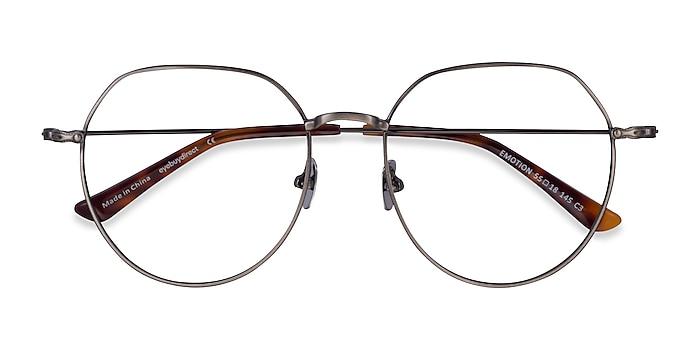 Brushed Gunmetal Emotion -  Metal Eyeglasses