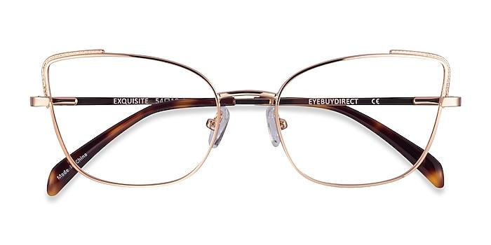Rose Gold Exquisite -  Metal Eyeglasses