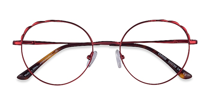 Burgundy Cloud -  Metal Eyeglasses