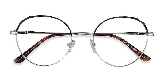 Silver Black Cloud -  Metal Eyeglasses