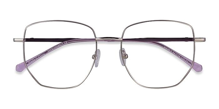 Silver & Purple Nimble -  Metal Eyeglasses