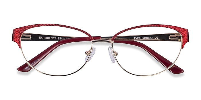 Red Gold Experience -  Colorful Metal Eyeglasses