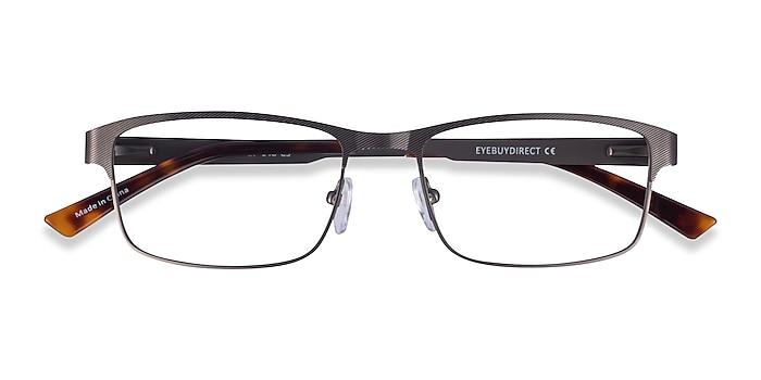 Gunmetal Quest -  Metal Eyeglasses