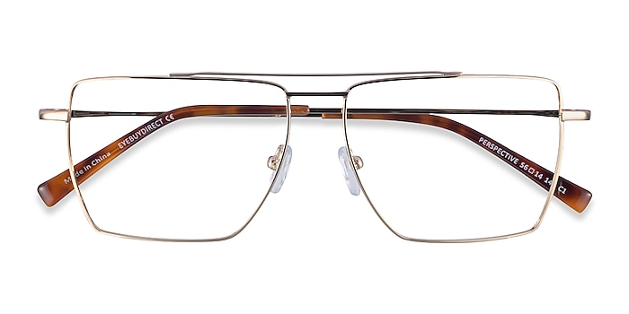 Gold Perspective -  Metal Eyeglasses