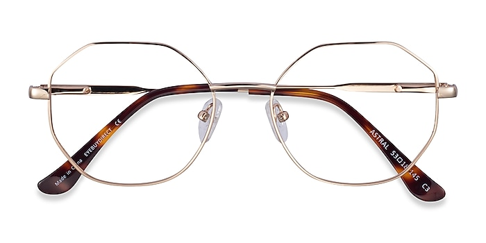 Gold Astral -  Metal Eyeglasses
