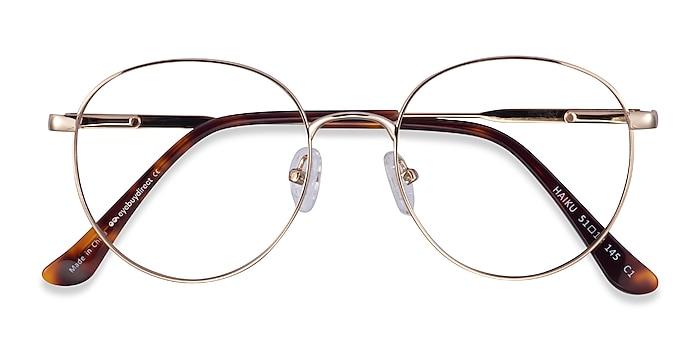 Gold Haiku -  Metal Eyeglasses
