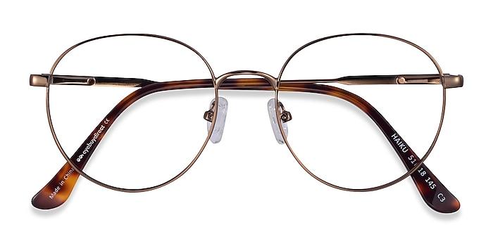 Bronze Haiku -  Metal Eyeglasses