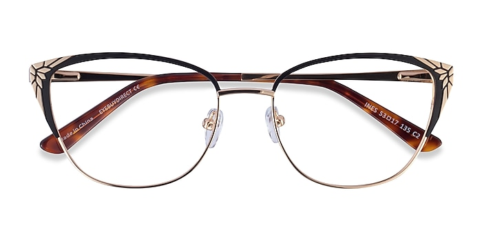 Black Gold Ines -  Metal Eyeglasses
