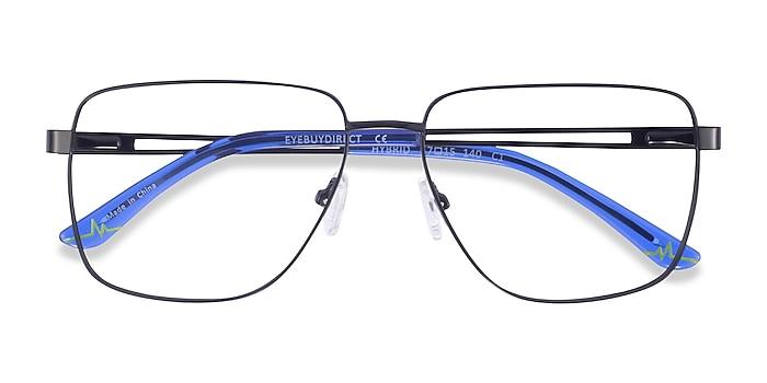Black Hybrid -  Metal Eyeglasses