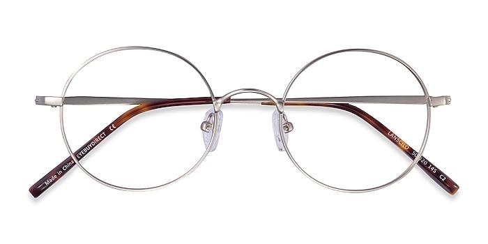 Matte Silver Lanscilo -  Metal Eyeglasses