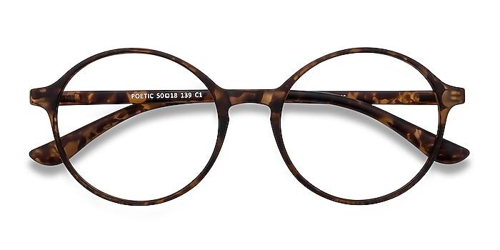 Matte tortoise Poetic -  Lightweight Plastic Eyeglasses