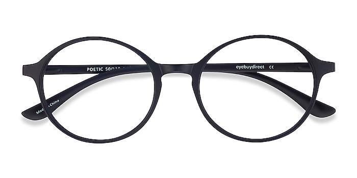 Matte Black Poetic -  Lightweight Plastic Eyeglasses