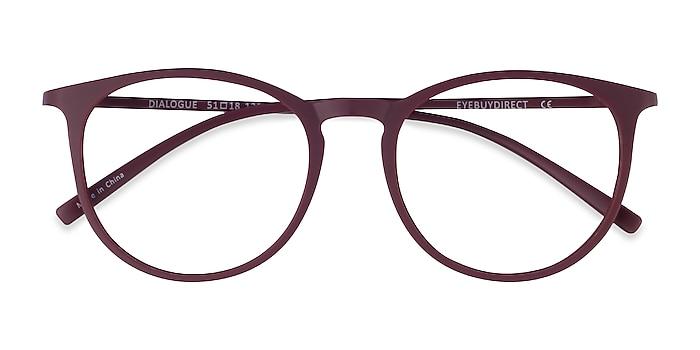 Aubergine Dialogue -  Fashion Plastic Eyeglasses