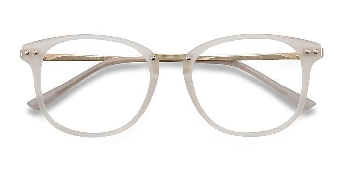White Cosmo -  Plastic, Metal Eyeglasses