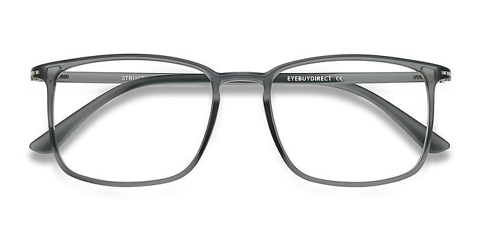 Clear Gray Structure -  Lightweight Plastic Eyeglasses
