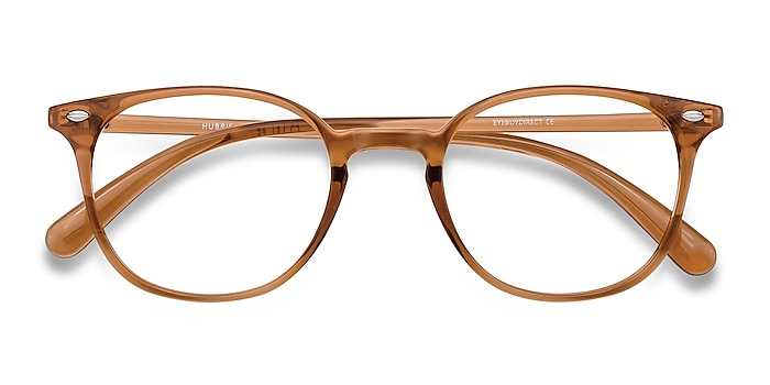 Clear Copper Hubris -  Lightweight Plastic Eyeglasses