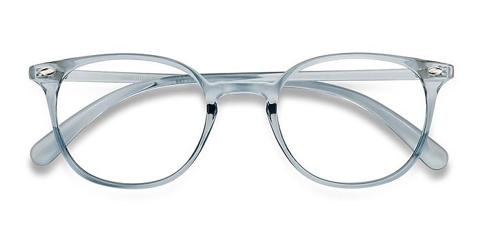 Clear Blue Hubris -  Lightweight Plastic Eyeglasses