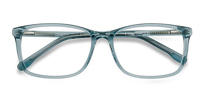 Clear Blue Constellation -  Acetate Eyeglasses