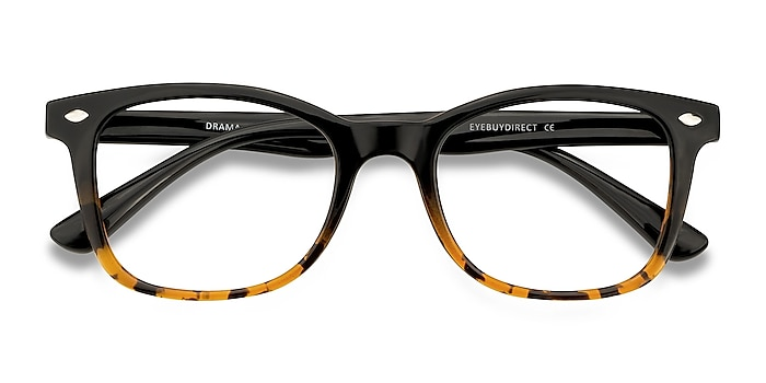 Black Brown Drama -  Plastic Eyeglasses