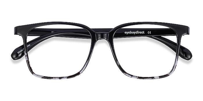 Black Clear Blocks -  Lightweight Plastic Eyeglasses