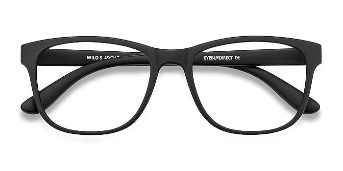 Matte Black Milo -  Geek Plastic Eyeglasses