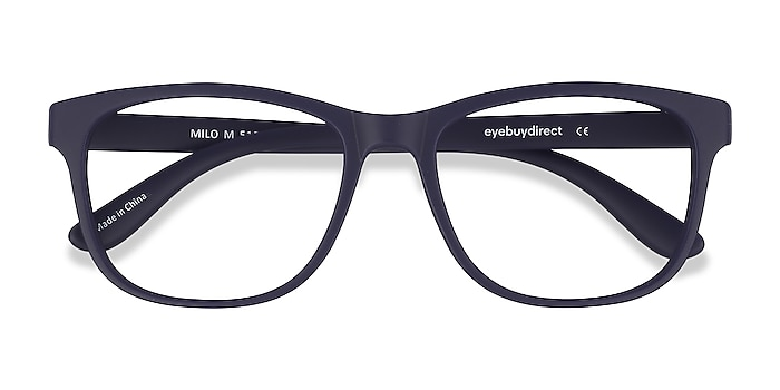 Matte Navy Milo -  Lightweight Plastic Eyeglasses