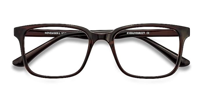 Brown November -  Lightweight Plastic Eyeglasses