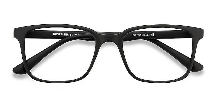 Matte Black November -  Lightweight Plastic Eyeglasses