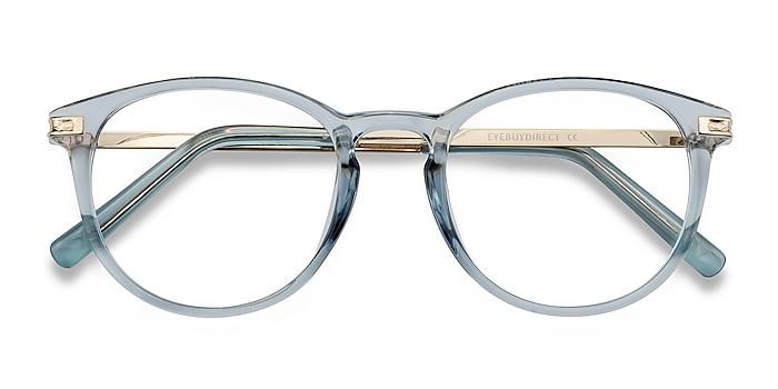 Clear Blue Daphne -  Plastic, Metal Eyeglasses