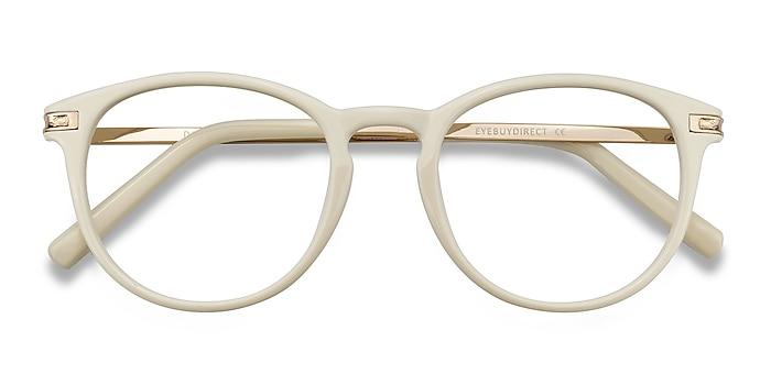 White Daphne -  Plastic, Metal Eyeglasses