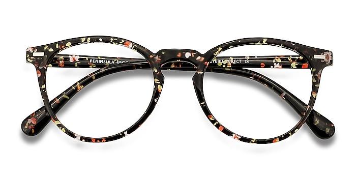 Red Floral Peninsula -  Lightweight Plastic Eyeglasses