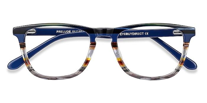 Blue Striped Prelude -  Acetate Eyeglasses