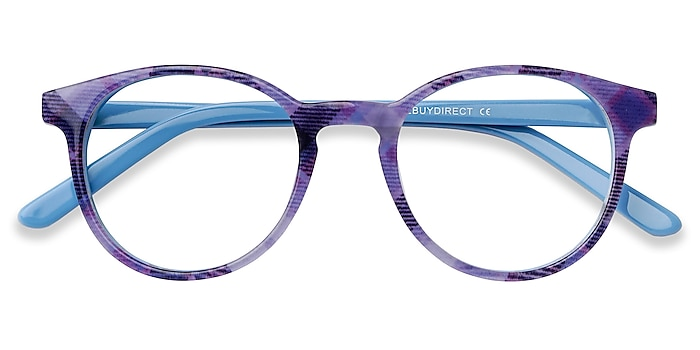 Purple Striped Lariat -  Acetate Eyeglasses