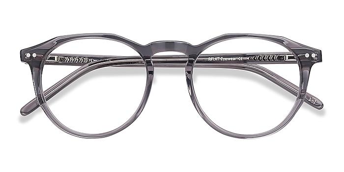 Gray Clear  Planete -  Vintage Acetate Eyeglasses