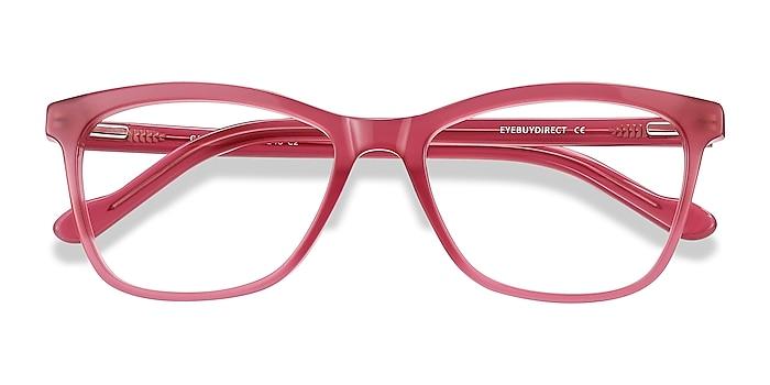 Clear Raspberry Cannes -  Fashion Acetate Eyeglasses
