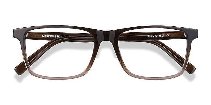Clear Brown Mariner -  Acetate Eyeglasses