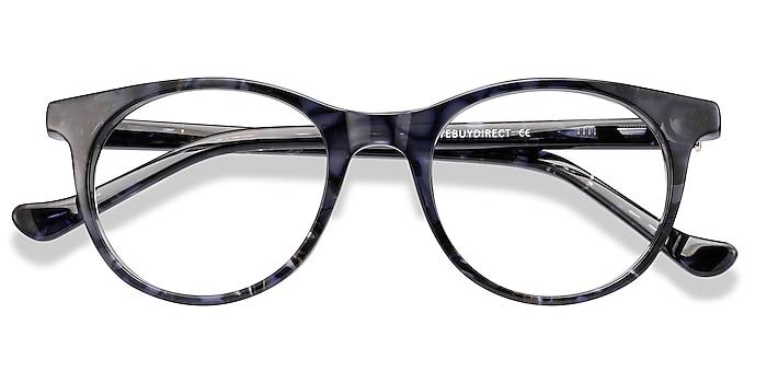Gray Floral Delle -  Acetate Eyeglasses