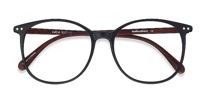 Matte Black Lucia -  Lightweight Plastic Eyeglasses