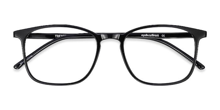 Black Trenton -  Lightweight Plastic Eyeglasses