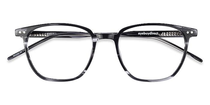 Gray Striped Regalia -  Lightweight Acetate Eyeglasses