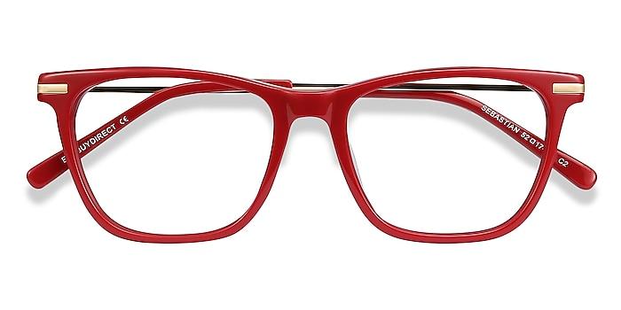 Burgundy Sebastian -  Fashion Acetate, Metal Eyeglasses