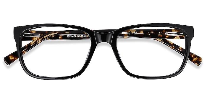 Black Demo -  Fashion Acetate Eyeglasses