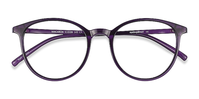 Purple Macaron -  Lightweight Plastic Eyeglasses