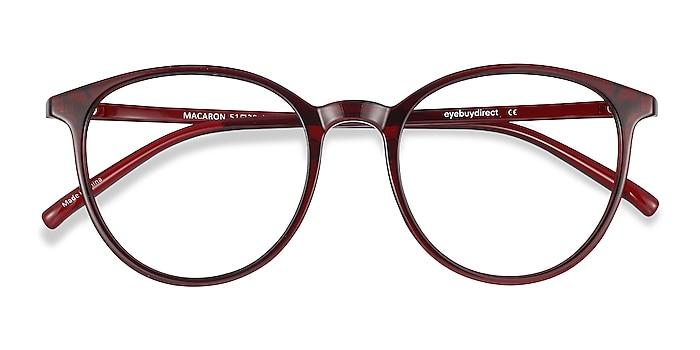 Burgundy Macaron -  Lightweight Plastic Eyeglasses