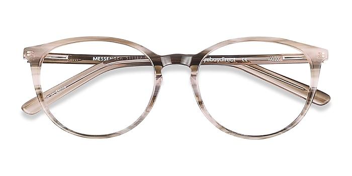 Striped Messenger -  Lightweight Acetate Eyeglasses